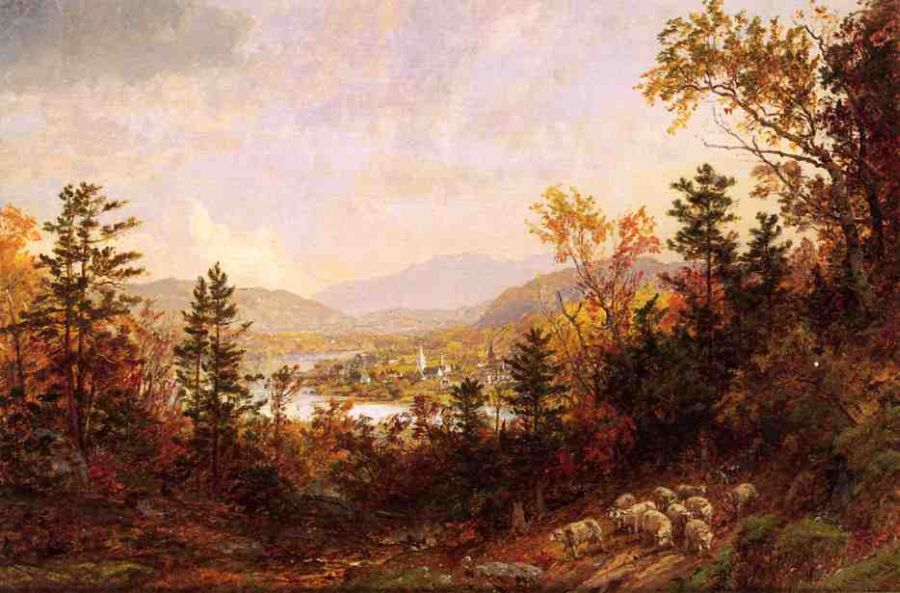 Jasper Francis Cropsey - Autumn on the Hudson