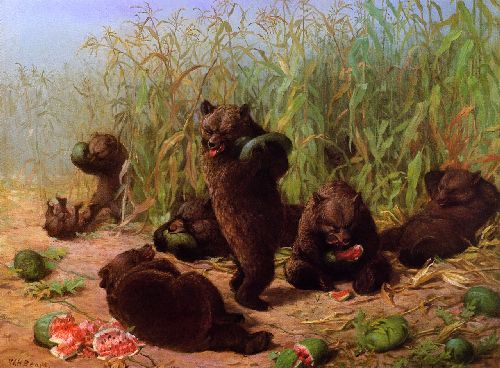 William Holbrook Beard - Bears in the Watermelon Patch