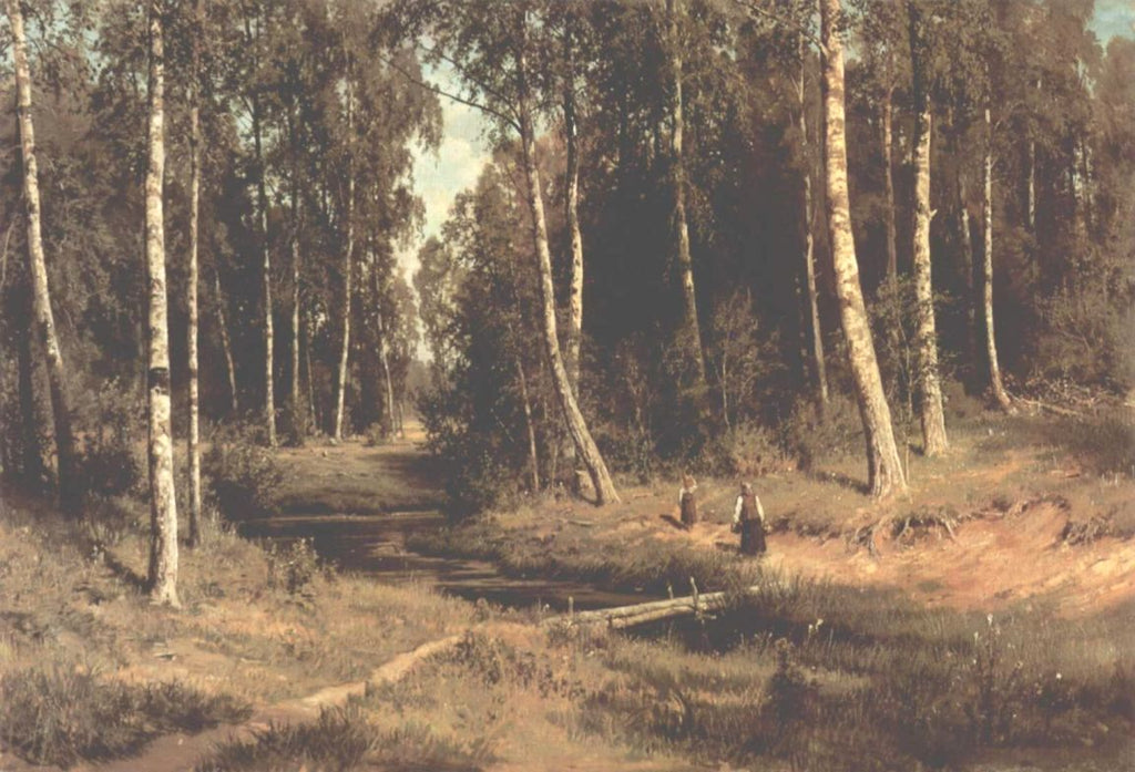 Ivan Shishkin - Brook in a Birch Grove
