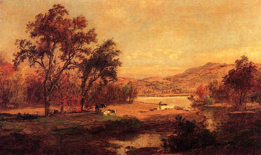 Jasper Francis Cropsey - By the Lake