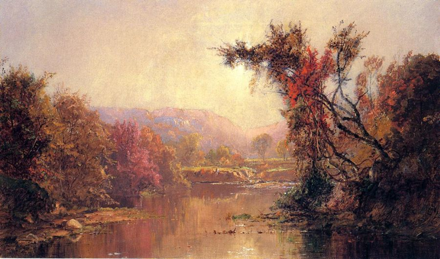 Jasper Francis Cropsey - By the River