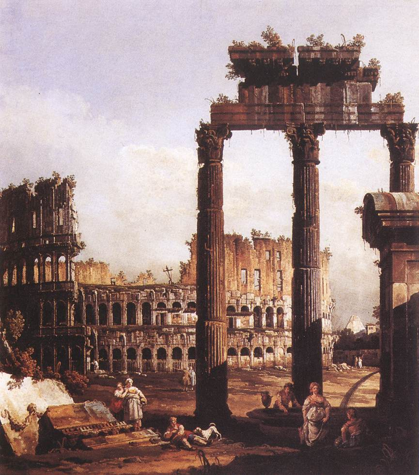 Bernardo Bellotto - Capriccio with the Colosseum
