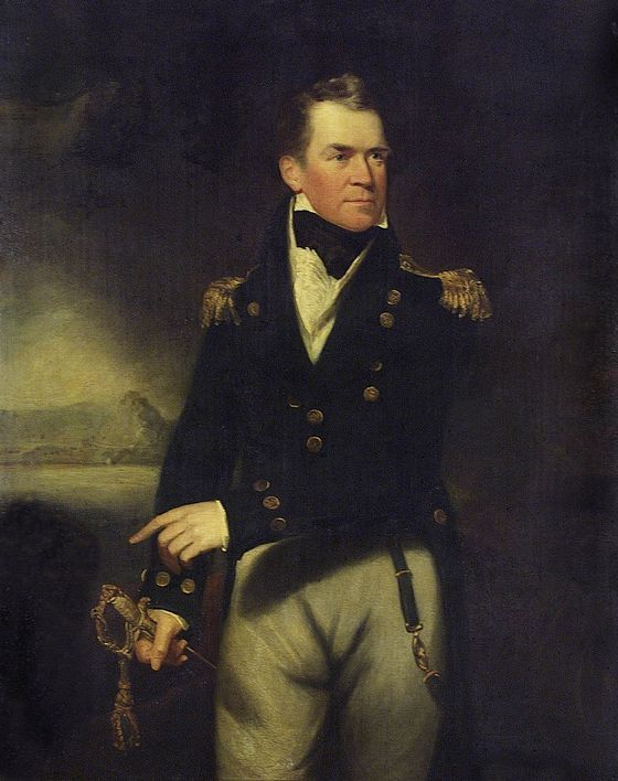 Sir William Beechey - Captain Sir George Ralph Collier