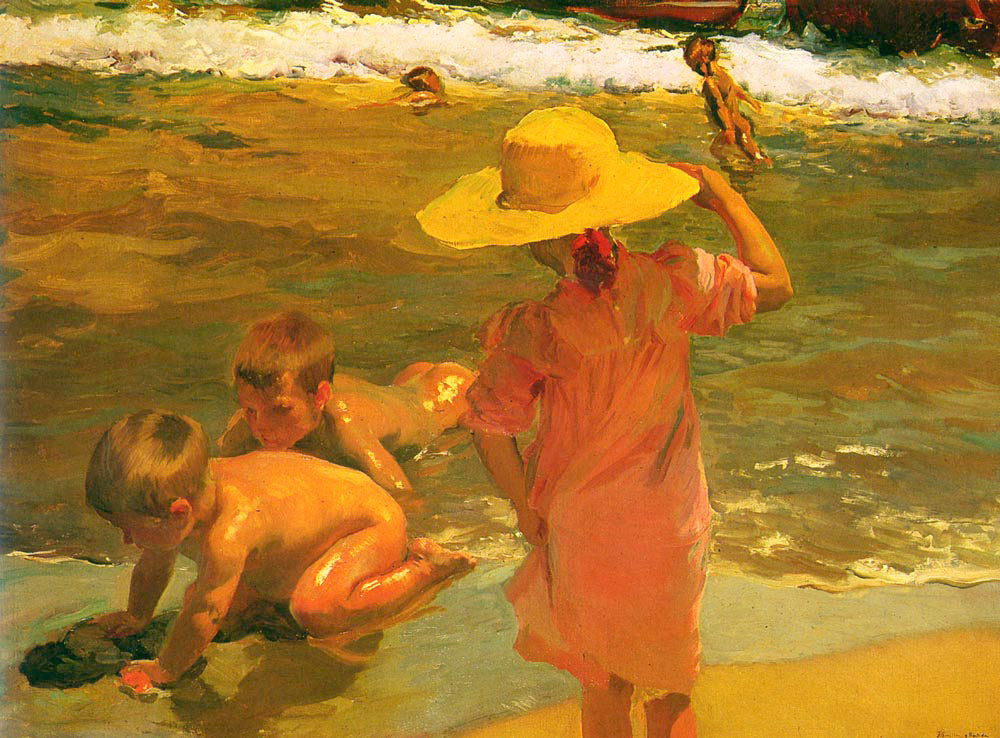 y Bastida Joaquin Sorolla - Children on the Seashore