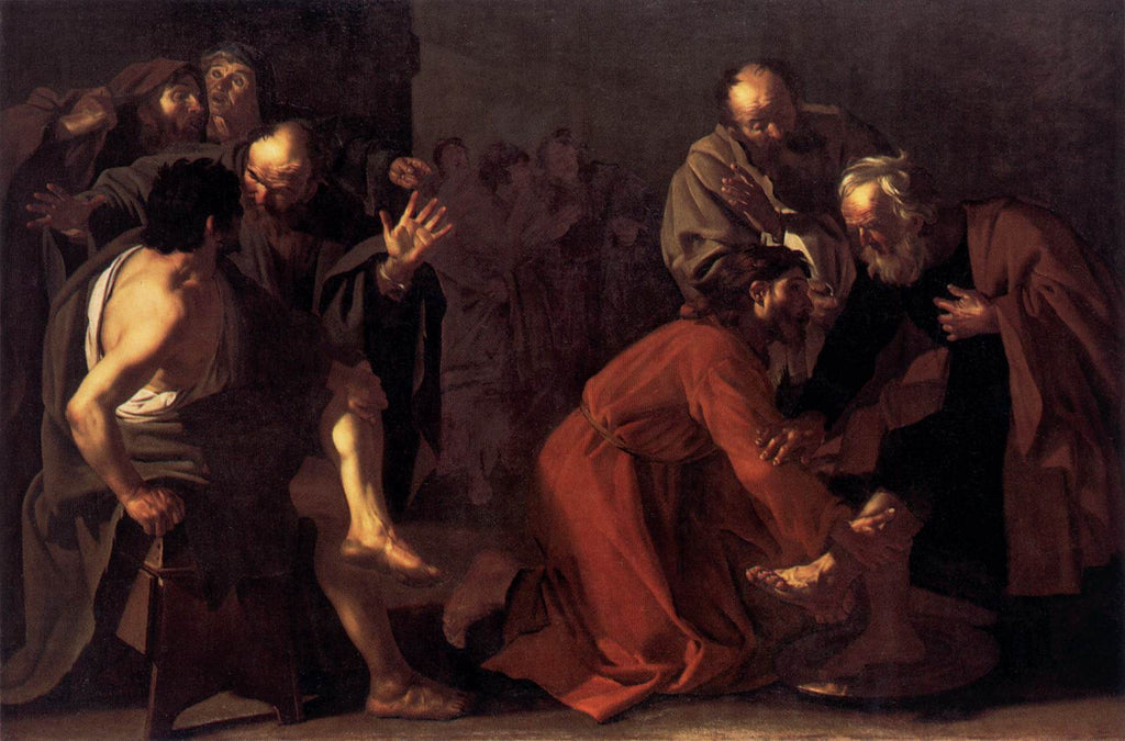 Dirck Van Baburen - Christ Washing the Apostles Feet