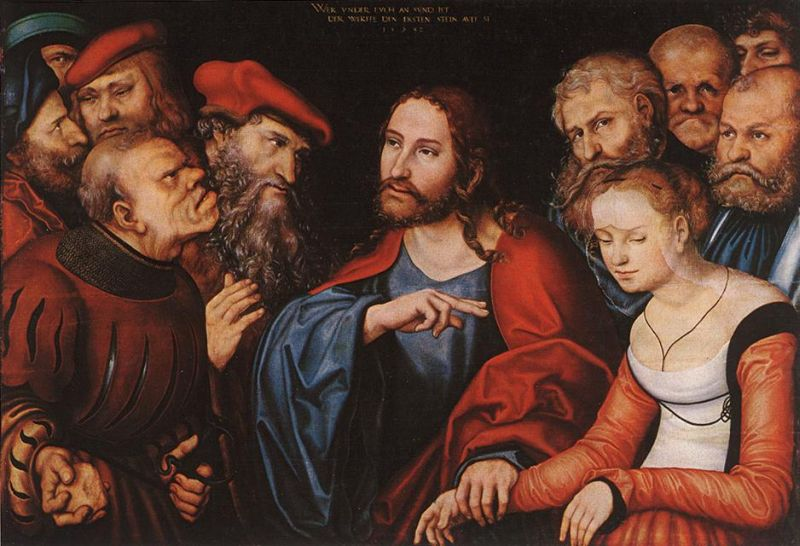 Lucas the Elder Cranach - Christ and the Adulteress