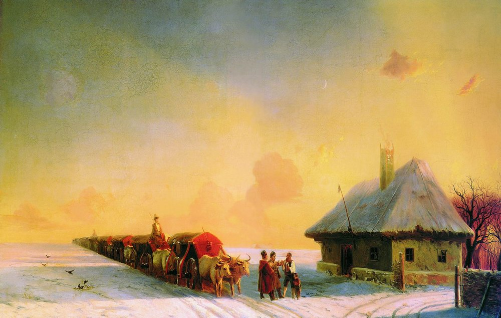 Ivan Aivazovsky - Chumaks in Little Russia