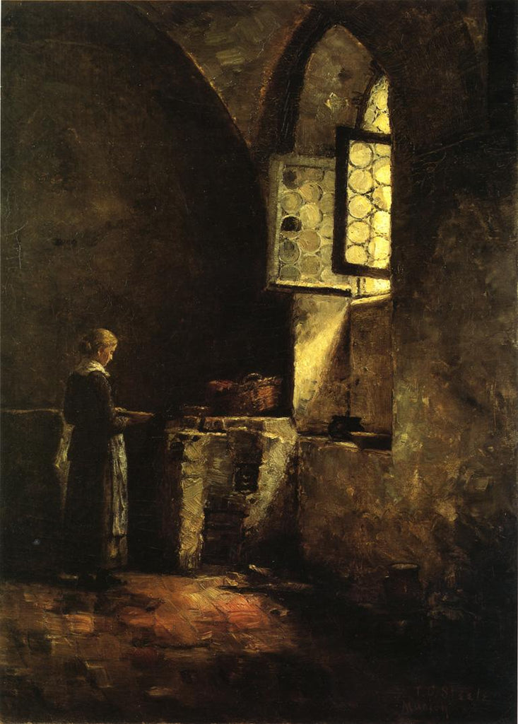 Theodore Clement Steele - A Corner in the Old Kitchen of the Mittenheim Cloister