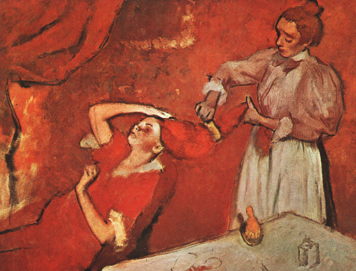 Edgar Degas - Combing the Hair