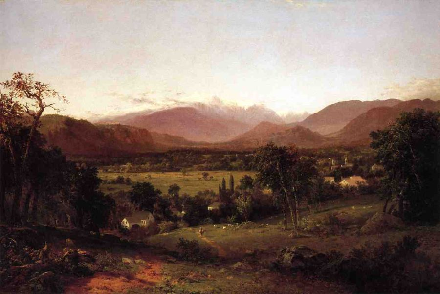 John Frederick Kensett - The White Mountains, From North Conway
