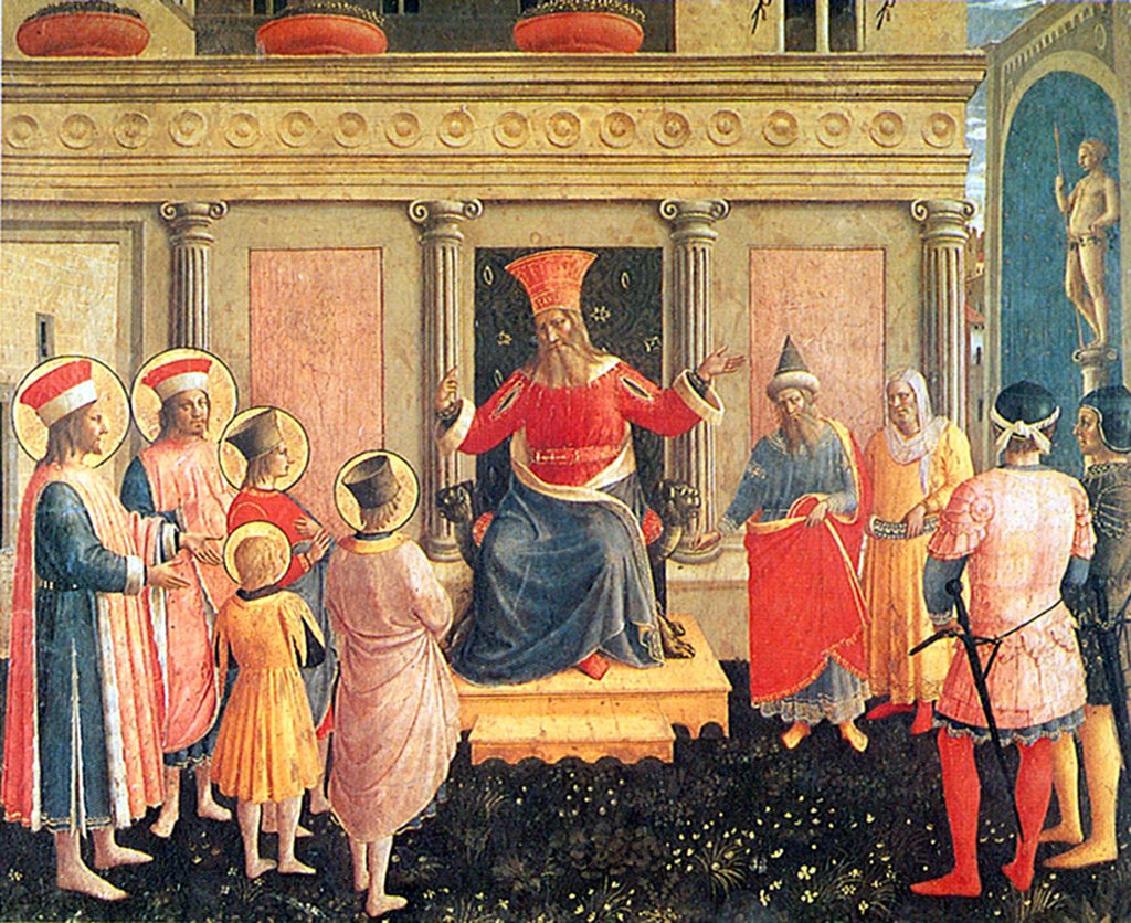 Fra Angelico - Cosmas and Damian before Lycias