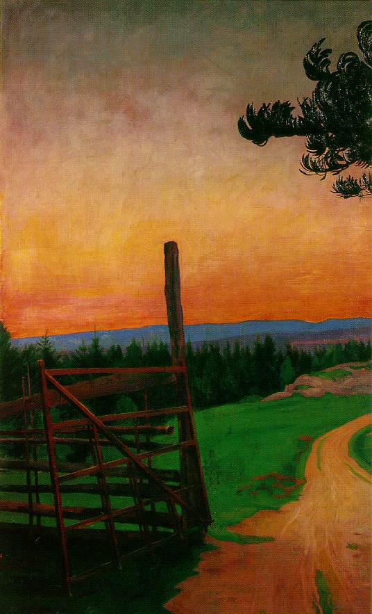 Harald Sohlberg - Country Road