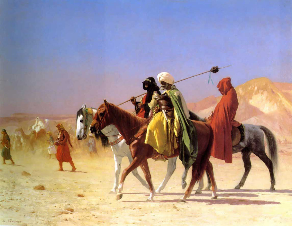 Jean-Leon Gerome - Arabs Crossing the Desert