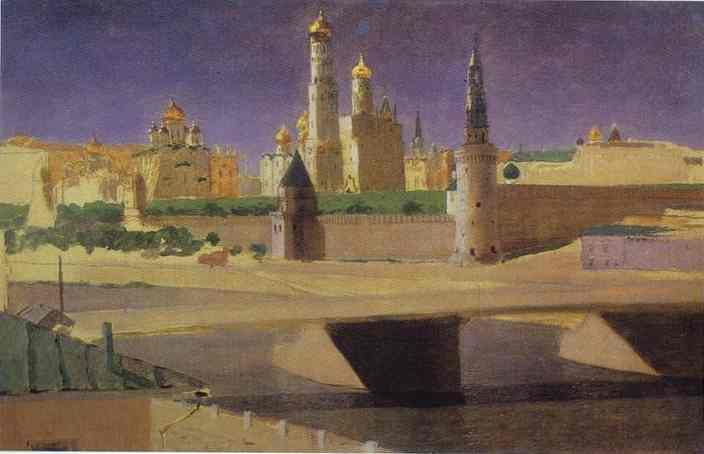Arkhip Kuindzhi - View Of The Kremlin From The Zamoskvorechye District