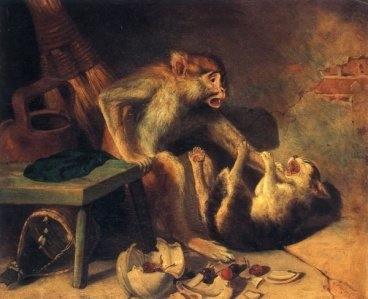 William Holbrook Beard - Domestic Squabble