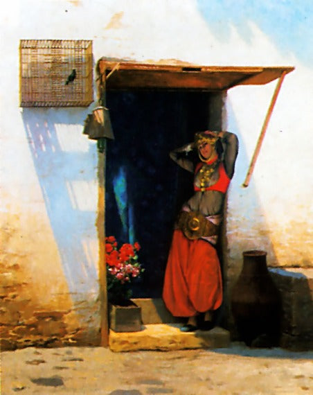 Jean-Leon Gerome - Woman of Cairo at her Door