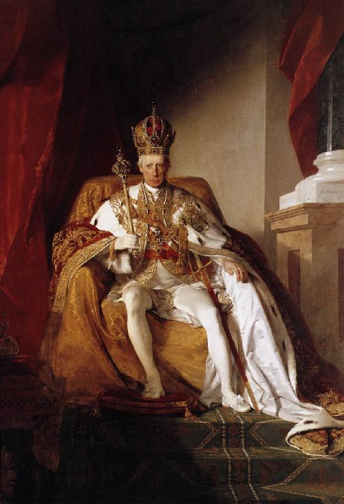 Friedrich von Amerling - Emperor Franz I of Austria in his Coronation Robes