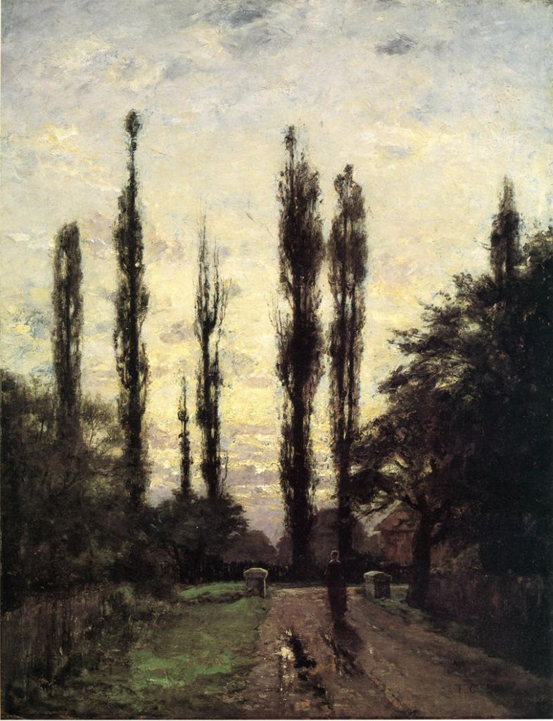 Theodore Clement Steele - Evening, Poplars