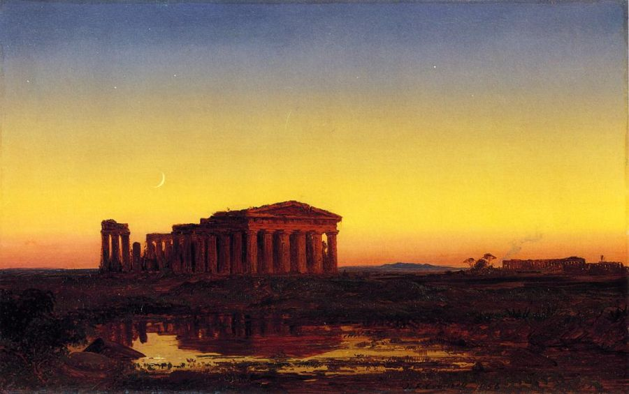 Jasper Francis Cropsey - Evening at Paestum