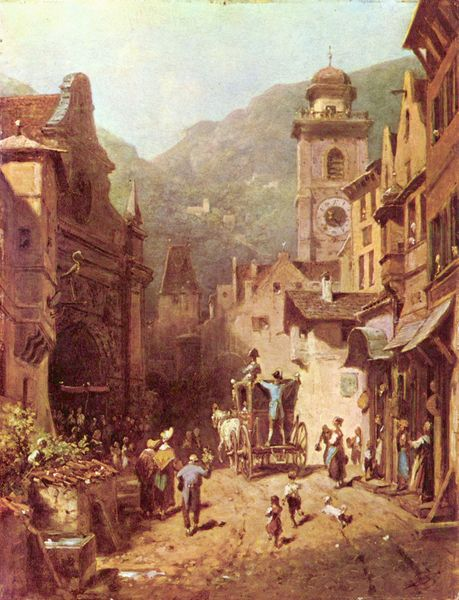 Carl Spitzweg - The Attendance Of The National Father