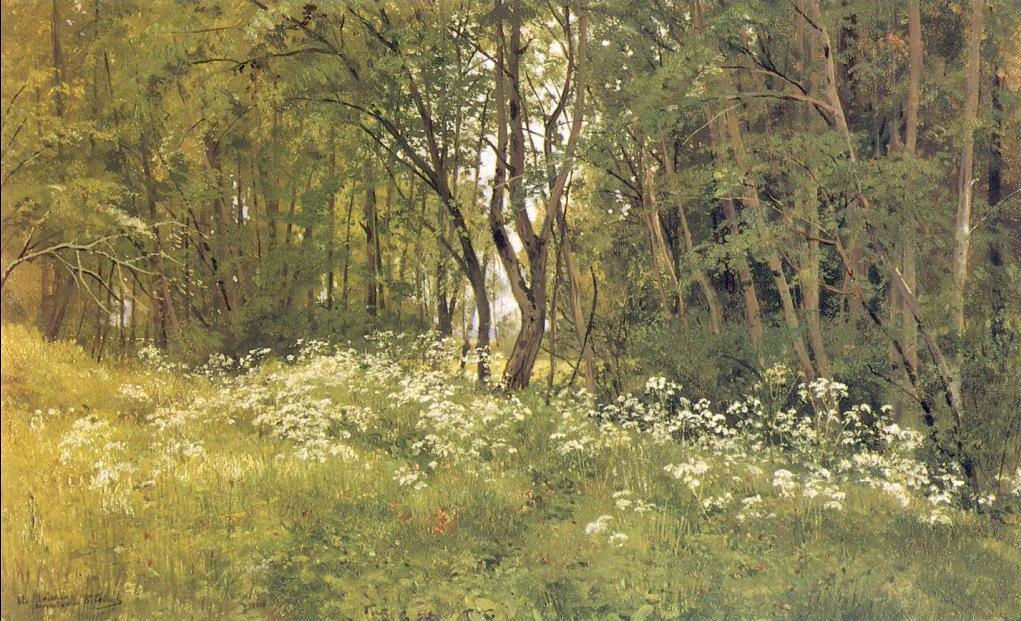 Ivan Shishkin - Flowers on the Edge of a Wood