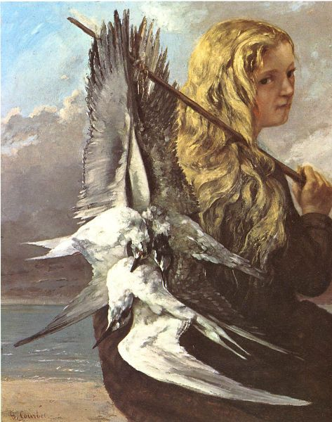 Gustave Courbet - Girl With Seagulls