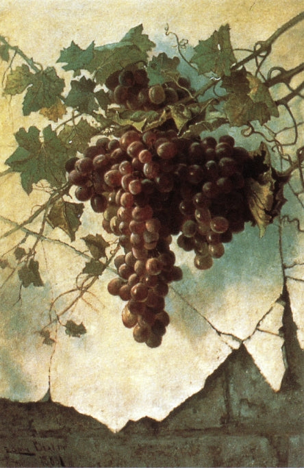 Edwin Deakin - Grapes against a Mission Wall