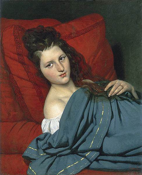 Joseph Desire Court - Half-length Woman Lying on a Couch