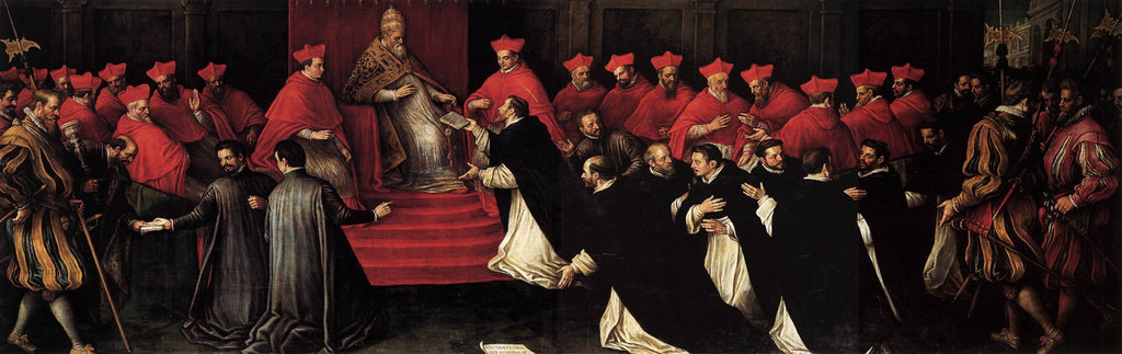 Leandro Bassano - Honorius III Approving the Rule of St Dominic in 1216