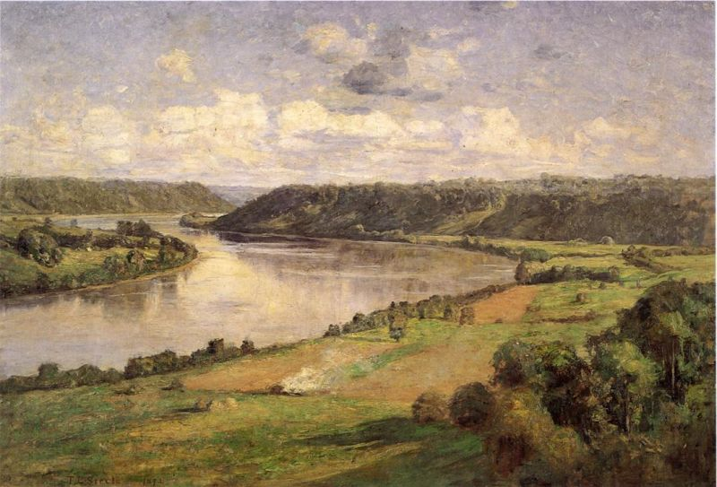 Theodore Clement Steele - The Ohio River from the College Campus, Honover