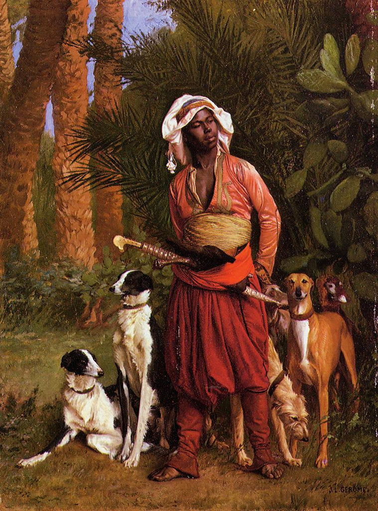 Jean-Leon Gerome - The Negro Master of the Hounds