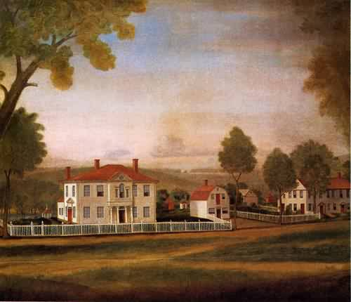 Ralph Earl - Houses Fronting New Milford Green 1796