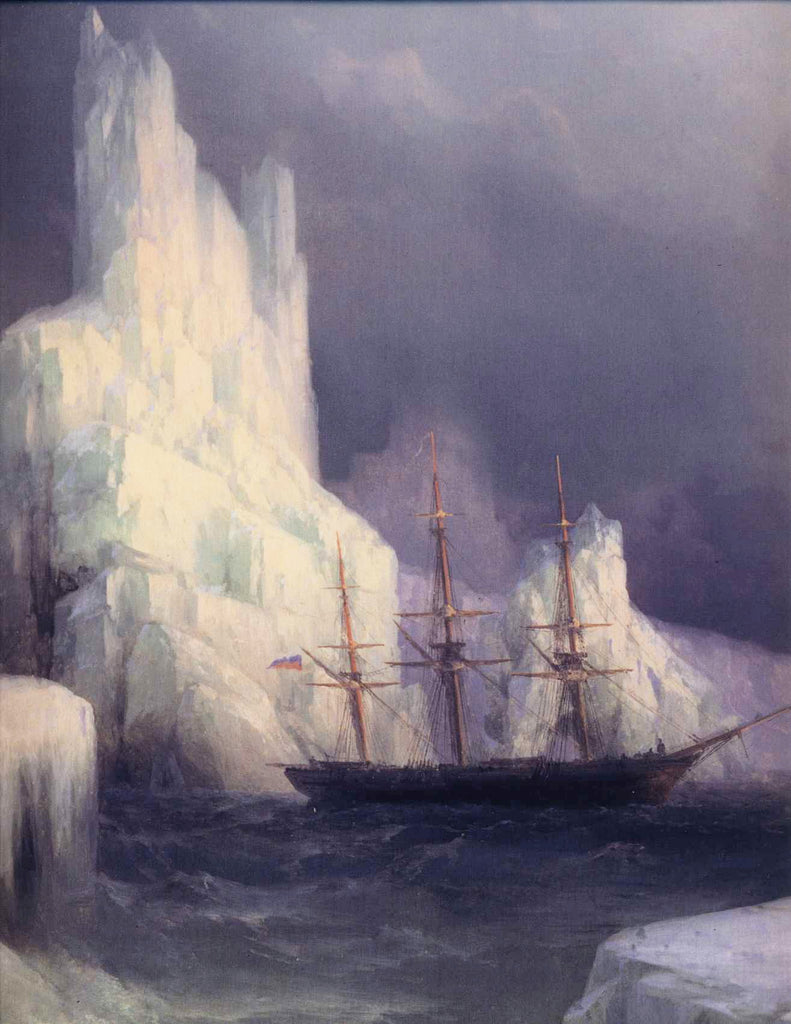 Ivan Aivazovsky - Icebergs in the Atlantic