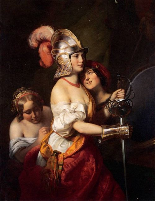 Friedrich von Amerling - In the Theatre Dressing Room