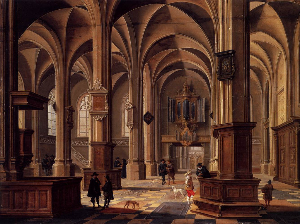 Bartholomeus Van Bassen - Interior of the Cunerakerk, Rhenen
