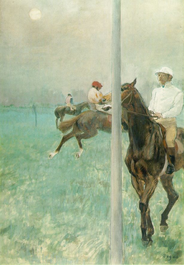 Edgar Degas - Jockeys Before The Race