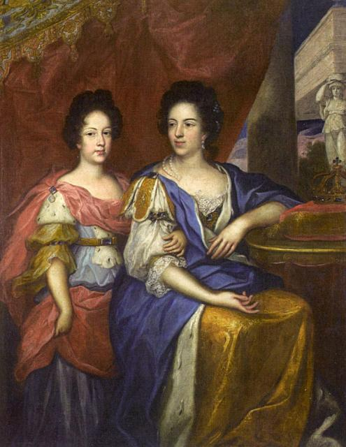 Jerzy Siemiginowski-Eleuter - Portrait of Maria Kazimiera with her daughter Teresa Kunegunda