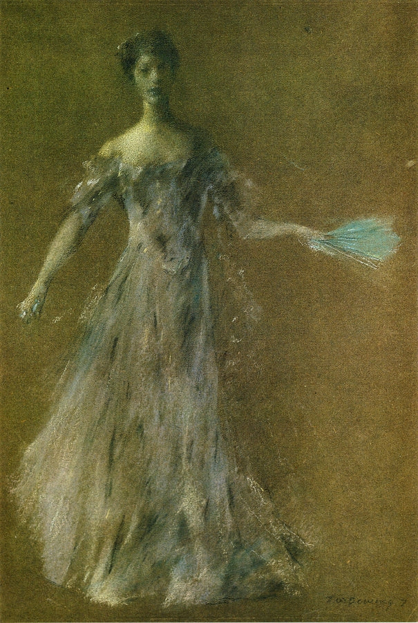 Thomas Wilmer Dewing - Lady in Lavender Dress