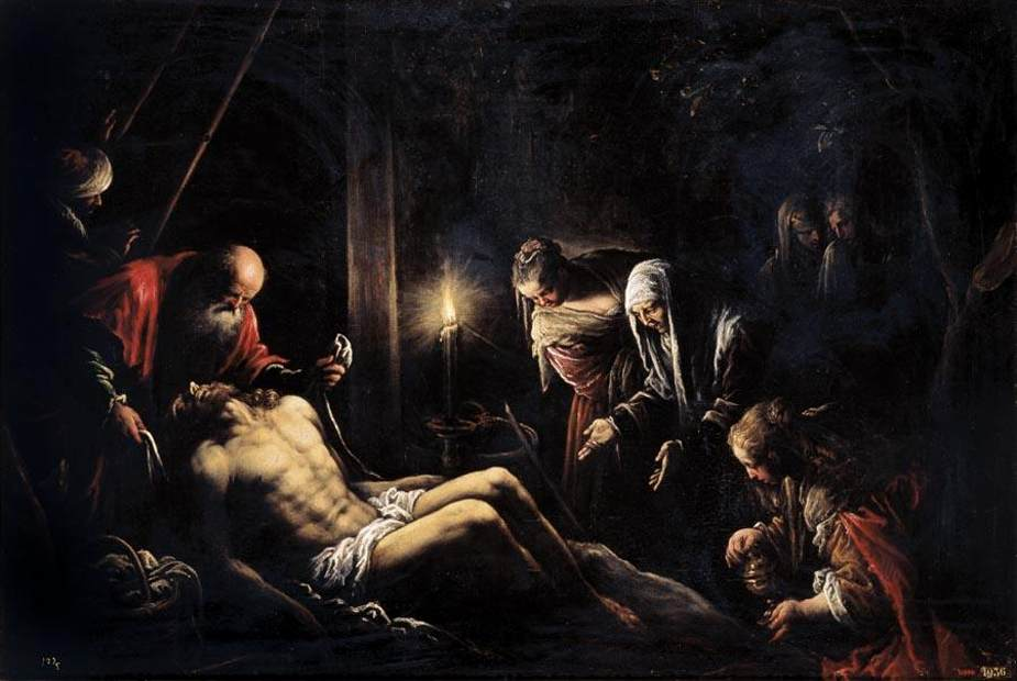 Francesco Bassano - Lamentation over the Dead Christ