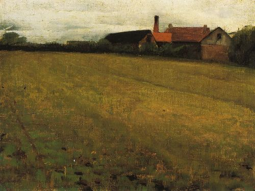 Cecilia Beaux - Landscape with Farm Building
