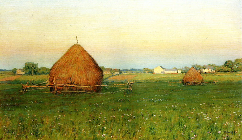 Henry Dearth - Landscape with Haystacks