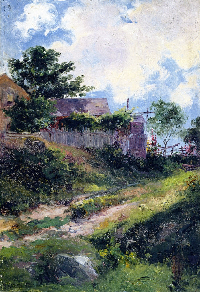 Mathias J Alten - Landscape with House and Fence