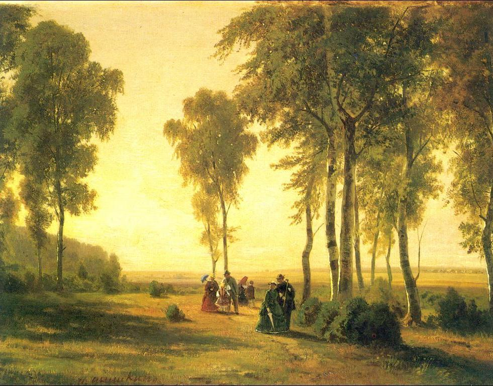 Ivan Shishkin - Landscape with Walking