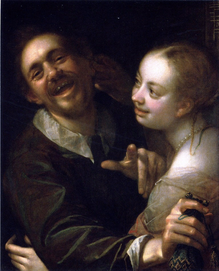 Hans von Aachen - Laughing Couple with a Money Purse