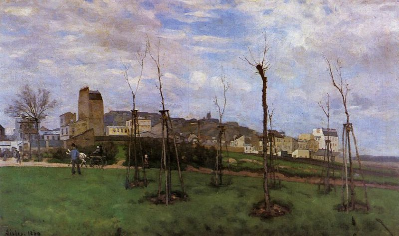 Alfred Sisley - View of Montmartre from the Cite des Fleurs, Les Batignolles