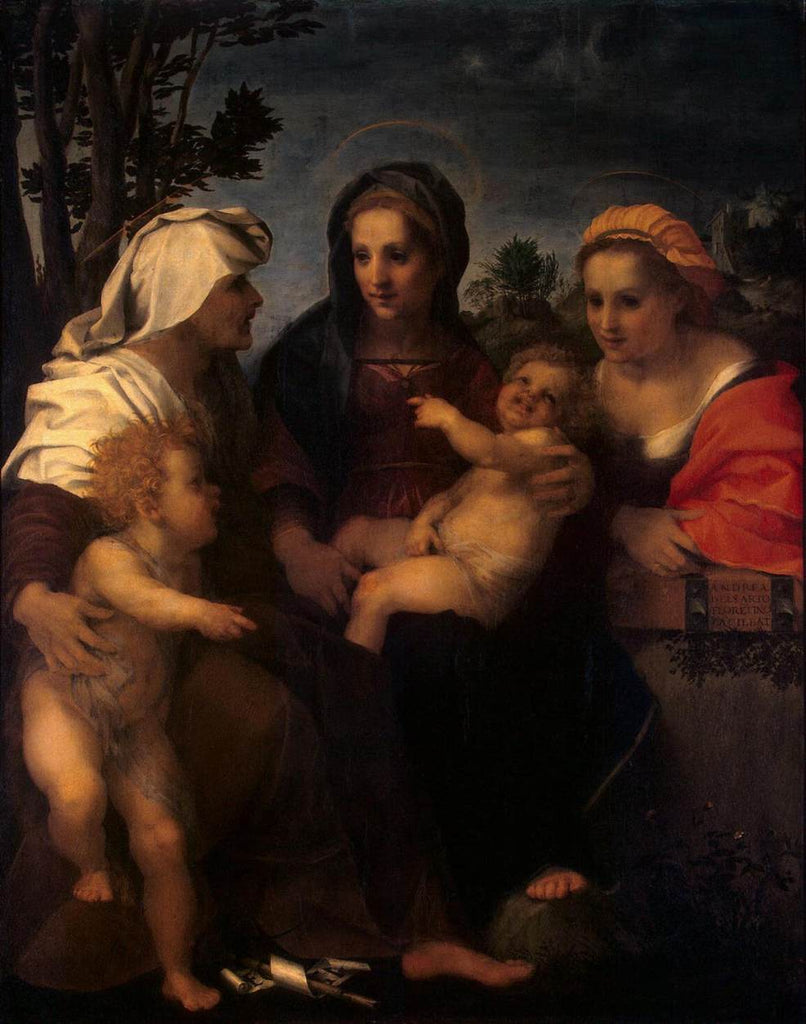 Del Sarto Andrea - Madonna and Child with Sts Catherine, Elisabeth and John the Baptist