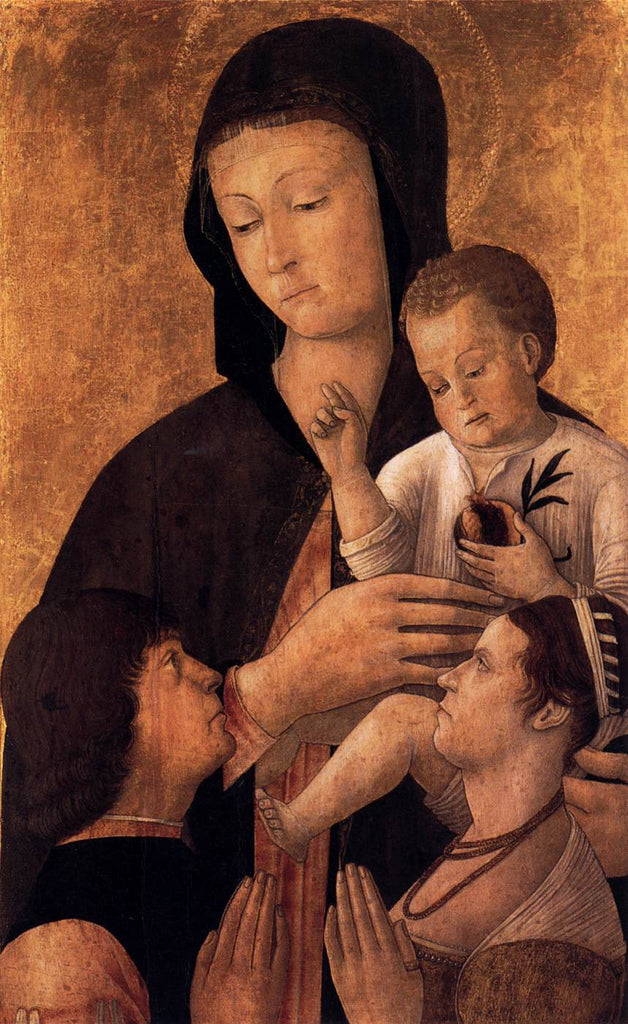 Gentile Bellini - Madonna and Child with Donors