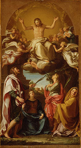 Pompeo Batoni - Christ with Saints Julian and Basilissa, Celsus and Marcionilla