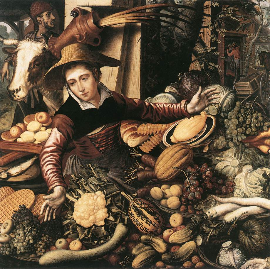 Pieter Aertsen - Market Woman with Vegetable Stall 1567