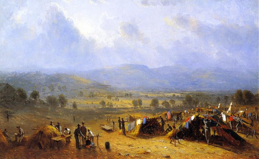 Sanford Robinson Gifford - The Camp of the Seventh Regiment near Frederick, Maryland